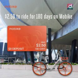 [Singtel] Ride to your destination freely with a 180-Day Mobike Pass at just $2.