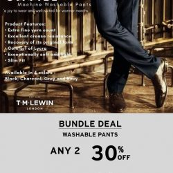 [T. M. Lewin] Check out the bundledeal for our exclusive Machine Washable Pants.