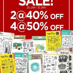[Papermarket] Selected stamps and dies are now on sale at both our outlets!