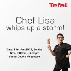 [Tefal] Join Chef Lisa as she prepares the most auspicious of CNY dishes with our popular cookware at her demonstration at