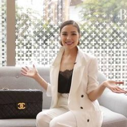 [Skinc Skin Supplement Bar] Here's a peek into what's in @oliviaculpo bag with @harpersbazaarsg !