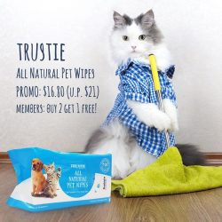 [Pet Lovers Centre Singapore] Trustie all natural pet wipes are so gentle, you can use it daily for your pets and yourself!