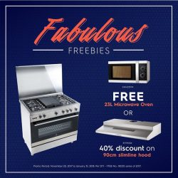 [Electrolux] Celebrate the start of the New Year with good tidings of discounts and freebies on Electrolux appliances!