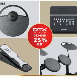 [YAMAHA MUSIC SQUARE] The DTX400K features 10 legendary drum kits and training functions plus newly developed drum pads, large cymbals and new silent