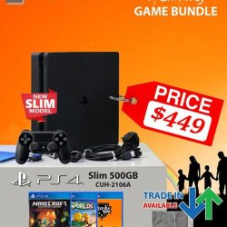 [GAME XTREME] January PS4 Slim Family Bundle【PROMO DURATION】 While Stocks Last【DETAILS】 This January, buy a PS4 Slim from us and