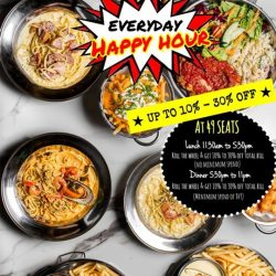 [49 Seats] Everyday is HAPPY HOUR at 49 49 Seats !