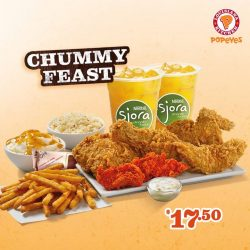 [Popeyes Louisiana Kitchen Singapore] There's no better way to show you're real chummy with your friend than sharing a Chummy Feast with