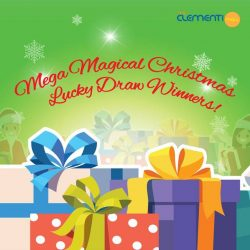 [The Clementi Mall] Congratulations to these 7 lucky winners for our weekly Mega Magical Christmas Lucky Draw!