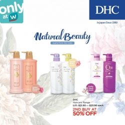 [Watsons Singapore] Let your naturally beautiful locks flow with DHC's haircare range!