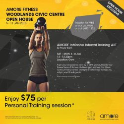 [Amore Fitness] Get your workout with Amore Intensive Interval Training (AIIT) at our Open House from 5-11 Jan!