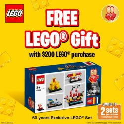 [The Brick Shop] FREE* 60 Years Exclusive LEGO® set (40290) when you spend $200 and above on any LEGO® product(s), excluding LEGO®