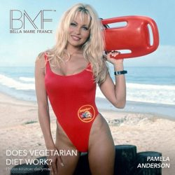 [Marie France Bodyline] Didyouknow Pamela Anderson, former Baywatch star,  follows a strict vegetarian diet to keep a healthy bodyweight?