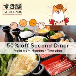 [SUKI-YA] Enjoy 50% off the second diner* when you dine with us using your Citibank Card from now till 28 Feb