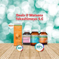 [Watsons Singapore] Attractive deals at Watsons @ Takashimaya S.