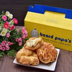 "[Beard Papa Singapore] Durian Cream Puffs are now available at all outlets (except VivoCity) and when you order online and quote ""CHOCKAZE"", you"