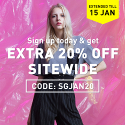 [Bossini Singapore] Extended offer for NEW YEAR: Sign up today to get EXTRA 20% off your order at bossini International Online Shop: