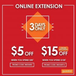 [Guardian] Due to popular demand, we are now extending our promotion online with even BIGGER SAVINGS!