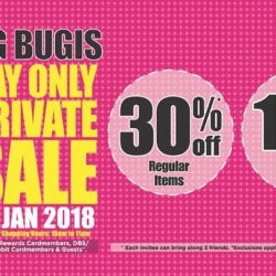 [BHG Singapore] Chinese New Year comes early at BHG Bugis Private Sale starting TOMORROW 27 Jan (Sat) 10am!