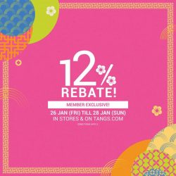 [Tangs] 12% Rebate starts NOW!