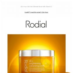 [RODIAL] It's Here: Discover Our Vit C Cleansing Pads
