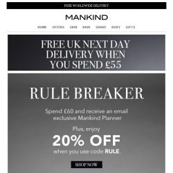 [Mankind] Last Chance | Save 20% Inside + Free Gift