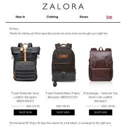 [Zalora] Are you still shopping for Backpacks?