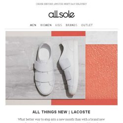 [Allsole] All Things New   Lacoste