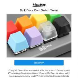 [Massdrop] Max Keyboard Tester Kit: DIY Cherry & Gateron Switch Tester for $21.99