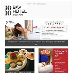 [Bay Hotel] Sweet Red February with Bay