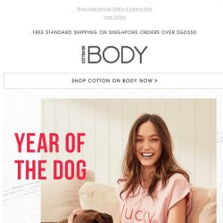[Cotton On] YEAR OF THE DOG | Lucky Pup-Printed Sleepwear 🐶