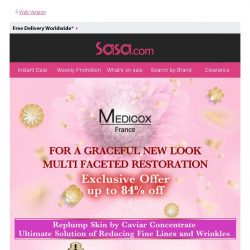 [SaSa ] [Up to 84% Off!] For a Graceful New Look!