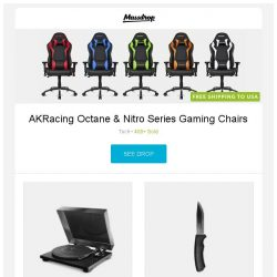 [Massdrop] AKRacing Octane & Nitro Series Gaming Chairs, TEAC TN-200 Turntable, Morakniv Bushcraft / Bushcraft Survival Knife and more...