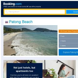[Booking.com] Deals in Patong Beach from S$ 21