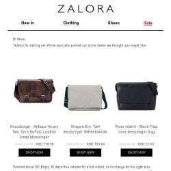 [Zalora] Are you still shopping for Messenger?
