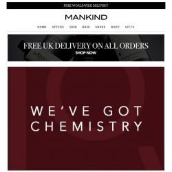 [Mankind] We've Got Chemistry | Explore Our Valentine's Shop Now