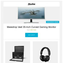 [Massdrop] Massdrop Vast 35-Inch Curved Gaming Monitor, WOLF Heritage Watch Winders, AKG K181 DJ UE Reference Class Headphones and more...