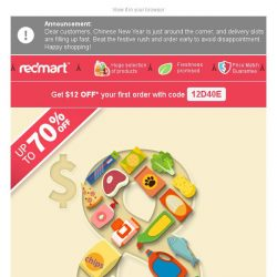 [Redmart] $8 and Under SALE starts now!