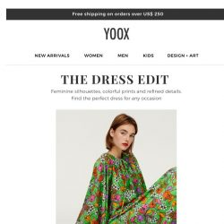 [Yoox] 👗 The Dress Edit: the perfect dress for any occasion
