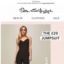 [Miss Selfridge] Which jumpsuit are you?