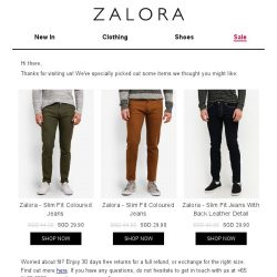 [Zalora] Are you still shopping for Slim Fit?