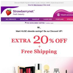 [StrawberryNet] , Don't Forget! Extra 20% Off + Free Int'l Shipping Ends Tomorrow!