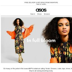 [ASOS] New in: florals – take that, winter