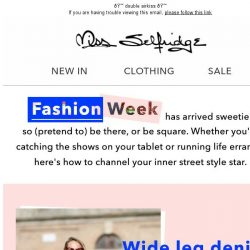 [Miss Selfridge] Here comes the street style