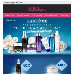 [SaSa ] Exclusive Offer!Rediscover Your Youthful & Ageless Skin with LANCOME.