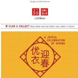 [UNIQLO Singapore] Shopped yet? 4 days more to Chinese New Year!