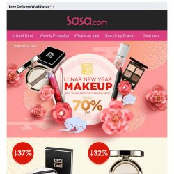 [SaSa ] 【Lunar New Year Makeup】BIG SALE UPTO 70% OFF