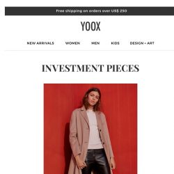 [Yoox] Clothing and accessories to invest in