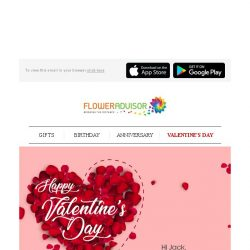 [Floweradvisor] Happy Valentine's Day. Celebrate Love and Feel The Love with Your Loved One Today!