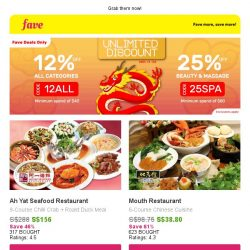 [Fave] $200 cash vouchers: House of Seafood, Lucky 8 & more!