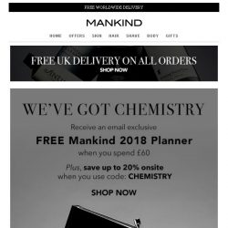 [Mankind] We've Got Chemistry | Save Up To 20% Inside + Free Gift